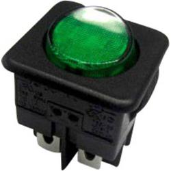 SCI Wippschalter R13-104B-01 B/G 250 V/AC 10A 1 x Aus/Ein rastend 1St.
