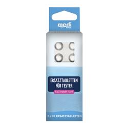 mediPOOL Tabletten für Sauerstoff / pH-Tester, Ersatztabletten für Artikel 47098, 1 Packung = 2 x 30 Stück