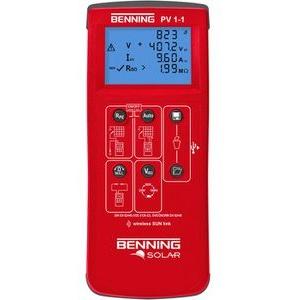 Benning Installationstester PV 1-1 Photovoltaik, gemäß VDE 0126-23, USB, Speicher