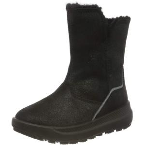 ECCO Solice K Black Metallic Suede Ankle Boot, Schwarz, 29 EU