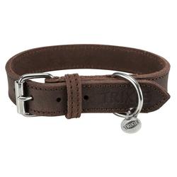TRIXIE Hunde-Halsband Rustic Fettleder, Leder 2 cm x 40 cm