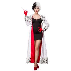 3tlg. Lady Cruella Kostüm