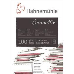 Hahnemühle Skizzenpapier Block Creativ geleimt A4 100g 100 Bl