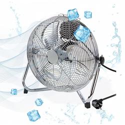 Metall Bodenventilator Ventilator Standventilator 30 cm 3 Geschwindigkeiten 45W