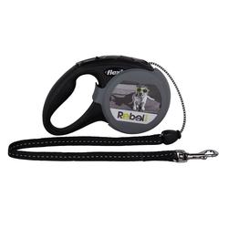 Rebel Petz Flexi Roll-Leine New Classic Seil 5 M für Hunde mit personalisierten Cover Up