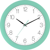 EUROTIME 88800-04-1 Quarz Wanduhr 30cm x 4.5cm Türkis Schleichendes Uhrwerk (lautlos)