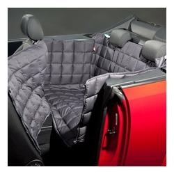 Doctor Bark 2-Sitzer 2-Türer Cabrio Autodecke, M: Sitzbankbreite 120 cm, Sitzhöhe 50 cm, Sitztiefe 60 cm, grau