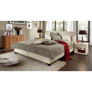 Stoffbett mit Bettkasten - 180x200 cm - anthrazit - ohne Matratze - Sansone