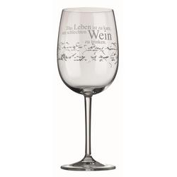 räder PET Vino Rotweinglas Das Leben ist kurz Weinglas