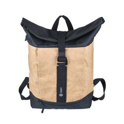 CRIPT Rucksack veggy backpack, Kraft Papier, reißfest, abwaschbar, leicht, ökologisch, nachhaltig natur