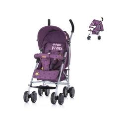 Chipolino Kinder-Buggy Kinderwagen Buggy Emoji Buggy, klappbar, verstellbar, Lenkrollen vorne lila