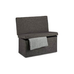 relaxdays Sitzhocker Faltbarer Sitzhocker mit Lehne L braun