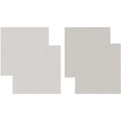 DDDDD Geschirrtuch Cisis, (Set, 4-tlg), Combiset: 2 Küchentücher & 2 Geschirrtücher weiß