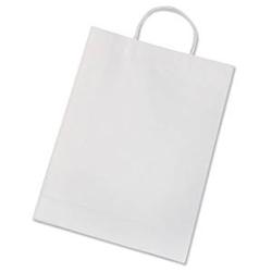 Papiertueten mit Papiertragegriff aus 110g/m Kraftpapier Farbe weiß 20 Stück
