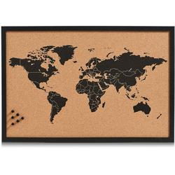 Home affaire Pinnwand World, Memoboard, aus Kork, Motiv Weltkarte