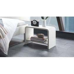 Weißer Designer-Nachttisch aus massivem Buchenholz - Gamba