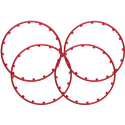 Rim Ringz Felgenring, 19 Zoll, Farbe rot