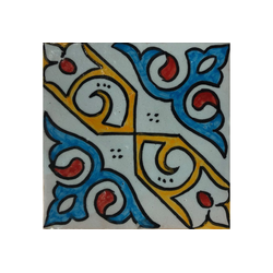 Casa Moro Fliesenaufkleber Marokkanische Keramikfliese Elem 10x10 cm handbemalte orientalische Fliesen bunte fliesen aus Marokko bad bodenfliesen patchwork, HBF8220