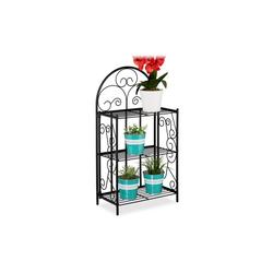 relaxdays Blumenständer Blumenregal Metall klappbar