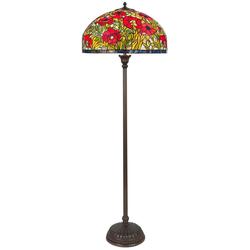 Casa Padrino Tiffany Stehleuchte / Stehlampe Mehrfarbig Ø 50 x H. 170 cm - Handgefertigte Tiffany Leuchte