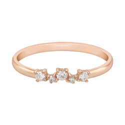 Goldener Verlobungsring mit Diamanten Aleela