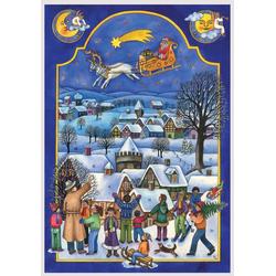 Adventskalender Nikolaus im Schlitten