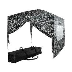 Maxstore - INSTENT Faltpavillon 'BASIC' 3x3,Trolley, Stahl,urban,2ST