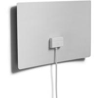 One for All DVB-T-DVB-T2 Indoor-Zimmerantenne – Full HD-HDTV Fernseher Ultraflache TV Antenne mit Verstärker - 0-25 km Reichweite – 3 meter Koaxialkab