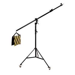 BRESSER Lampenstativ BR-LB300 Lampenstativ mit Schwenkarm und Rollen
