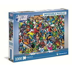 Clementoni® Puzzle 39599 DC Comics 1000 Teile Impossible Puzzle, 1000 Puzzleteile bunt