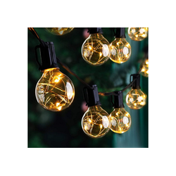 Quntis LED-Lichterkette, 9,8M G40 Glühbirnen E12 155 LEDs