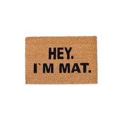 Fußmatte Fußmatte Kokos I'M MAT, relaxdays, Höhe 1.5 mm
