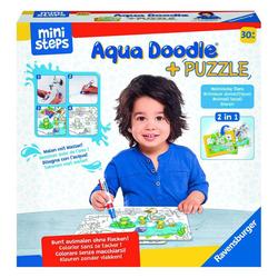 Ravensburger Puzzle ministeps Aqua Doodle Heimische Tiere, Puzzleteile