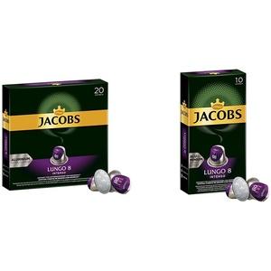 Jacobs Kaffeekapseln Lungo Intenso, Intensität 8 von 12, 200 Nespresso®* kompatible Kapseln, 10 x 20 Getränke & Kapseln Lungo Intenso, Intensität 8, 100 Nespresso®* 10er Pack, 10 x 10 Getränke