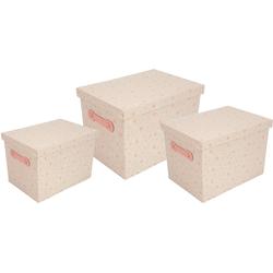Franz Müller Flechtwaren Aufbewahrungsbox Kids (Set, 3 Stück) rosa Boxen Truhen, Kisten Körbe Schlafzimmer Aufbewahrungsboxen