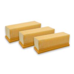 AccuCell Staubsaugerrohr 3x Staubsaugerfilter für Staubsauger wie Kärcher 6