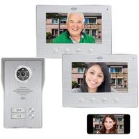 ELRO DV477IP2 Smart Home Türklingel (Außenbereich, Innenbereich, Türsprechanlage mit App 2 Monitoren)