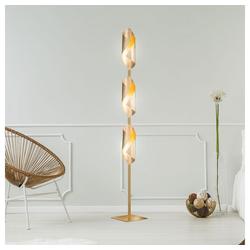 etc-shop Stehlampe, LED Steh Lampe Wohn Schlaf Zimmer Beleuchtung Flur Strahler Stand Leuchte gold