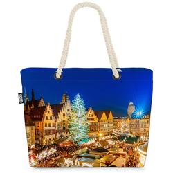 VOID Strandtasche (1-tlg), Weihnachtsmarkt Frankfurt Beach Bag Weihnachtsmarkt Frankfurt Christkindlmarkt