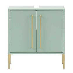 Waschkommode in Mintgrün und Goldfarben modern