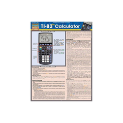 Ti-83 Plus Calculator - (Quick Study: Academic) by Barcharts Inc (Poster)