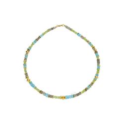 JuwelmaLux Collier Collier Silber mit Apatit, Labradorit, Peridot (1-tlg), Damen Collier Silber 925/000, inkl. Schmuckschachtel