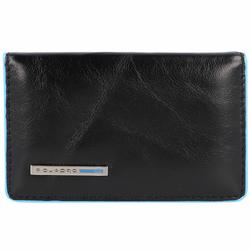Piquadro Blue Square Etui na wizytówki skórzana 10 cm schwarz