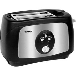 Trisa Crunchy Toast Toaster Edelstahl, Schwarz