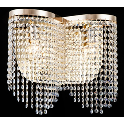Casa Padrino Barock Kristall Wandleuchte Gold 40,5 x H 35 cm Antik Stil - Wandlampe Wand Beleuchtung