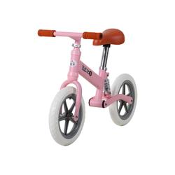 HOMCOM Laufrad Kinder Laufrad mit Stoßdämpfer rosa