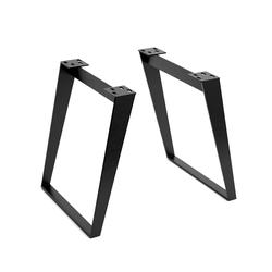 DELIFE Tischgestell Metall Schräg (2er-Set), Gestelle