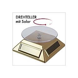Solar-Drehteller gold