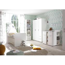 Babyzimmer-Komplettset Bibo, (Set, 3-tlg), Bett + Wickelkommode + 3-trg. Schrank