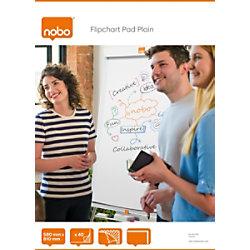 Nobo Flipchart-Papier Blanko DIN A1 60 g/m² Blanko 40 Blatt